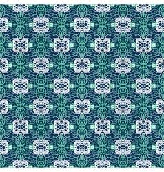 lace grid ornament vector image