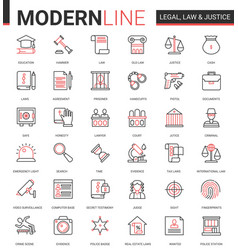 Legal law and justice flat icon vector