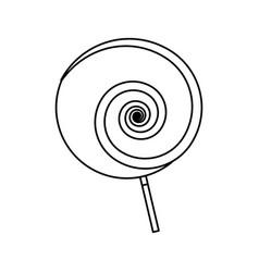 lollipop sweet candy vector image