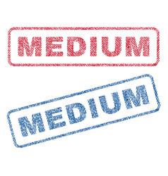 Medium textile stamps vector