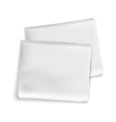 mockup newspaper newsprint sheets blank tabloid vector image