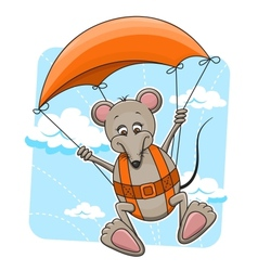 Mouse with parachute vector