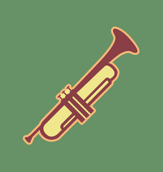 Musical instrument trumpet sign cordovan vector