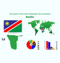 namibia all countries of the world infographics vector image