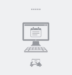 Notepad application flat icon vector