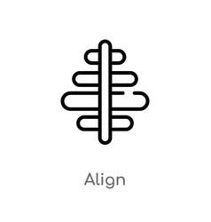 Outline align icon isolated black simple line vector