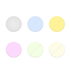 pill icons set vector image