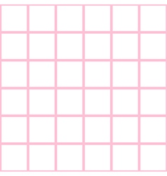 Pink White Grid Chess Board Background vector image vector image