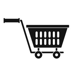 Plastic shopping trolley icon simple style vector