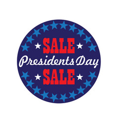 presidents day typography graphic in circle frame vector image