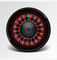 realistic black casino roulette wheel isolated on vector image