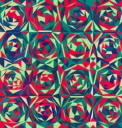 Retro mosaic seamless pattern with gluss effect vector