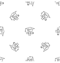 school graduated pattern seamless vector image