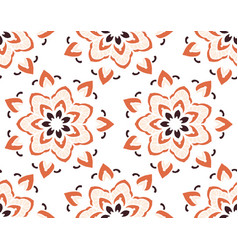 seamless pattern with mandala vector image