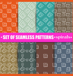 Set of abstract seamless background vector