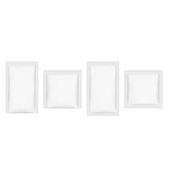 set sachet mockups isolated on white background vector image