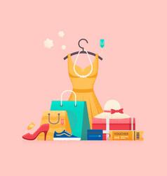 shopping concept sales vector image
