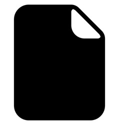 simple notepaper paper sheet icon stationery vector image