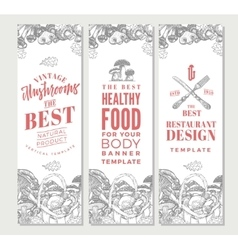 Sketch Organic Food Vertical Banners vector