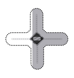 Sticker diamond metallic frame with grill vector