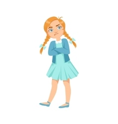 Stubborn Girl Teenage Bully Demonstrating vector image