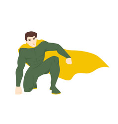 superhero superhuman or superman attractive man vector image