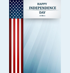 usa independence day fourth july greeting card vector image