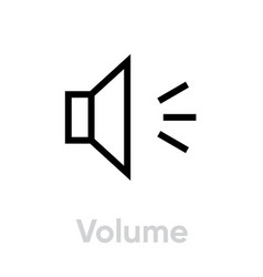 Volume icon editable outline vector