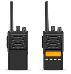 walkie talkie 03 vector image