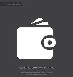 Wallet premium icon white on dark background vector image