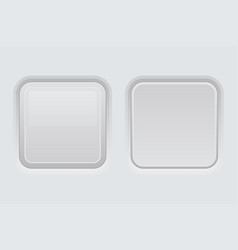 white web interface buttons square 3d icons vector image