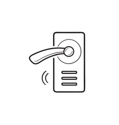 wireless door lock hand drawn outline doodle icon vector image