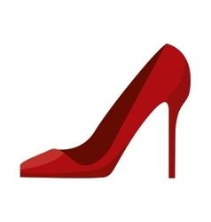 woman red heel vector image