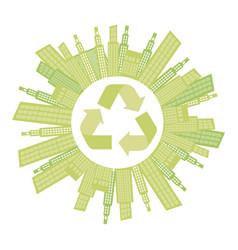 Beage city with build and help environment icon vector
