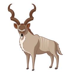 cartoon smiling kudu vector image vector image