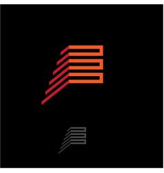 e logo monogram vector image vector image