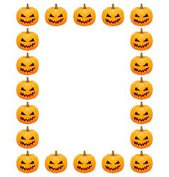 Halloween photo frame vector image vector image