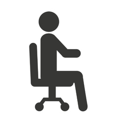 human figure silhouette seated icon vector image vector image