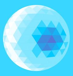 Light blue triangle sphere vector