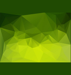 low polygonal green magic vector image