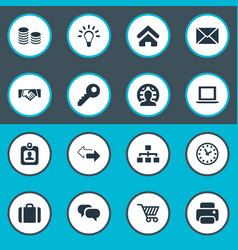 set of simple commerce icons vector image