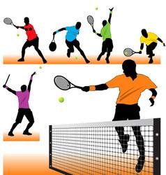 tennis set02 vector image vector image