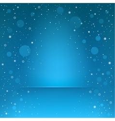 blue snow podium vector image