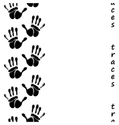 Human hands seamless pattern vector image vector image