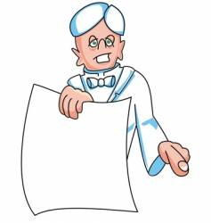 man holding paper vector image vector image