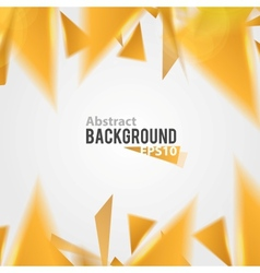 Orange abstract triangle background vector image vector image