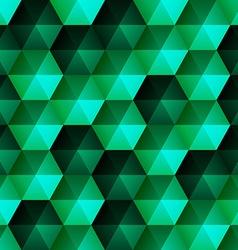 Relief Emerald Hexagons vector image