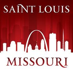 Saint Louis Missouri city skyline silhouette vector image vector image