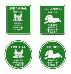 Set of stickers for pet cage vector image