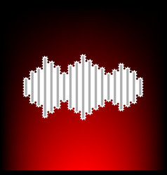 sound waves icon style vector image
